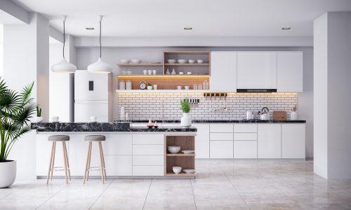 Cocina blanca moderna racholas metro
